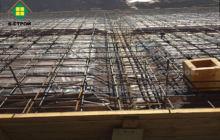 плита перед залитием бетоном